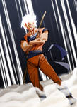 Re-Imagigne 001 Goku - color by AlexDeB