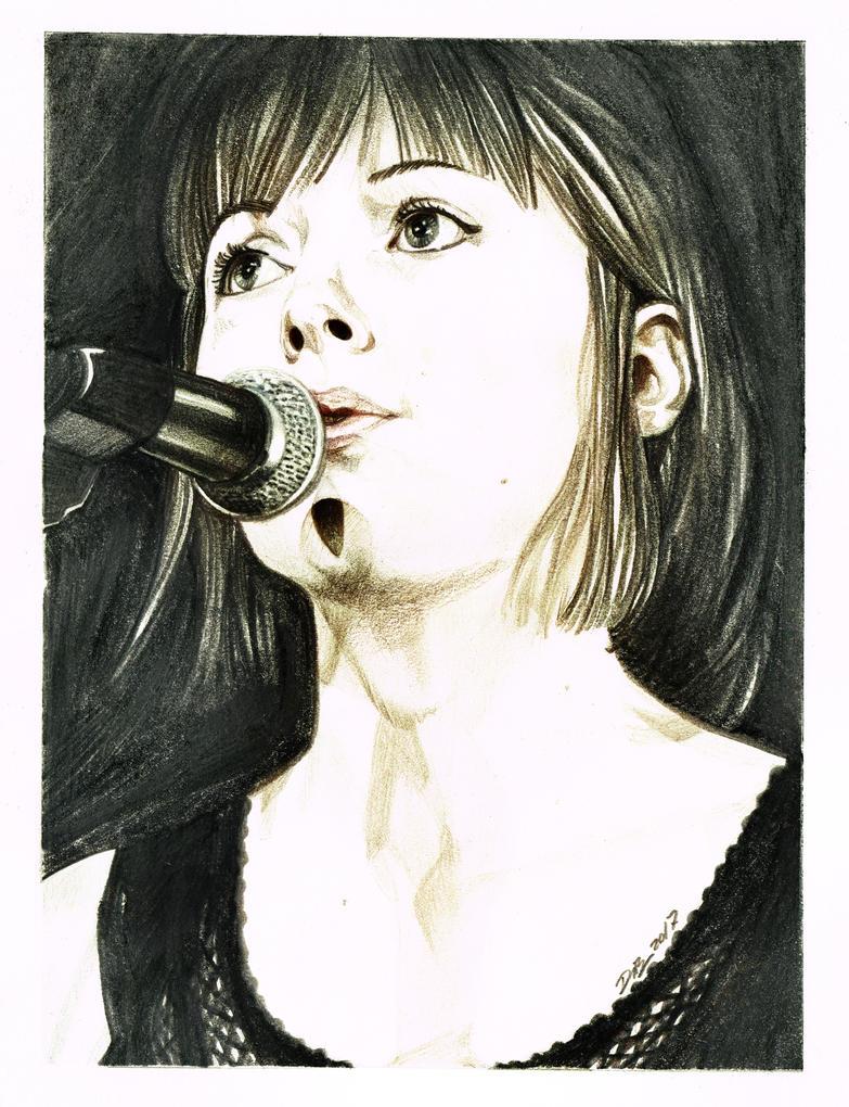 Portrait Myriam couleurs by AlexDeB