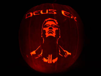 Deus Ex Pumpkin by ceemdee
