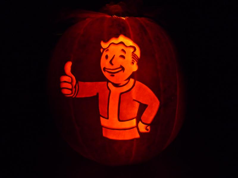 Vault boy pumpkin by ceemdee on deviantart