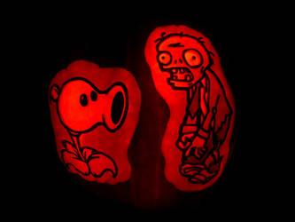 Plants vs Zombies Pumpkin by ceemdee