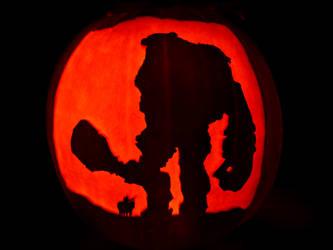 Shadow of the Colossus Pumpkin by ceemdee