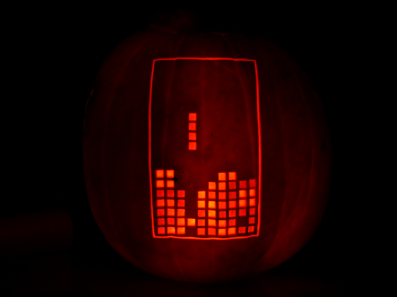 Tetris Pumpkin by ceemdee