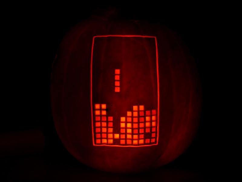 Tetris Pumpkin by ceemdee