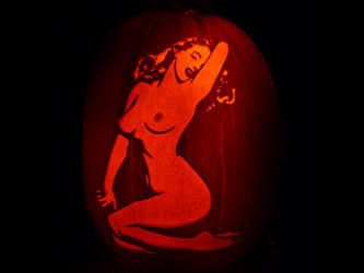 Pinup Pumpkin by ceemdee