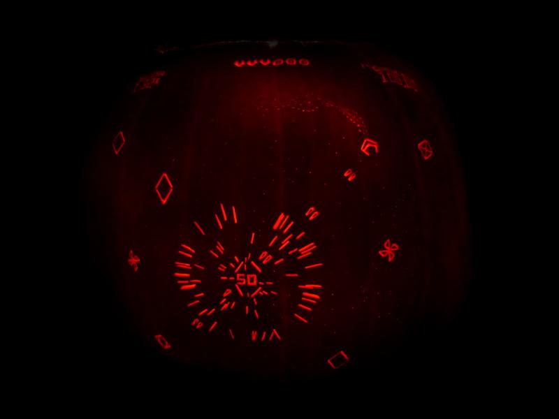 Geometry Wars Pumpkin by ceemdee