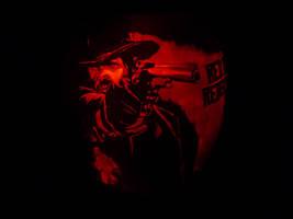 Red Dead Redemption Pumpkin 2 by ceemdee