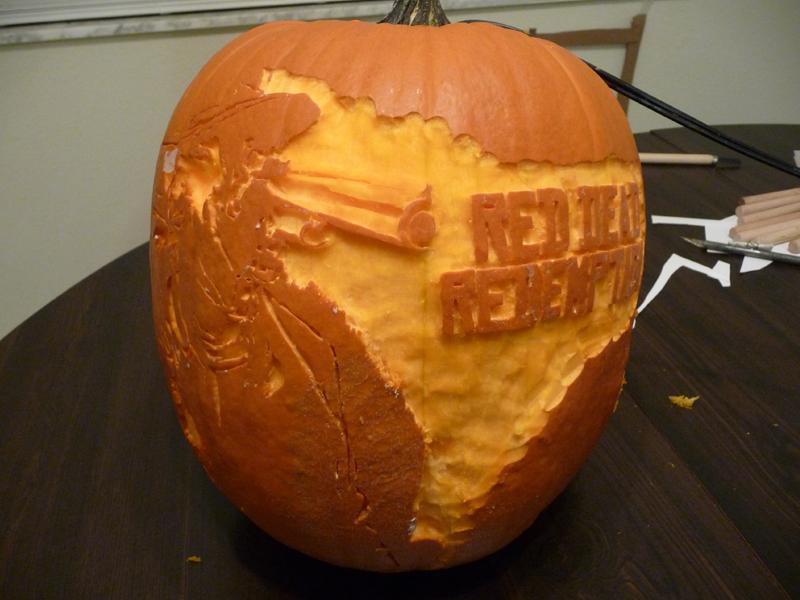 Red Dead Redemption Pumpkin 3 by ceemdee