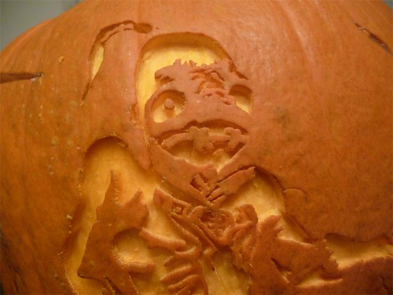 Oddworld Pumpkin Detail by ceemdee