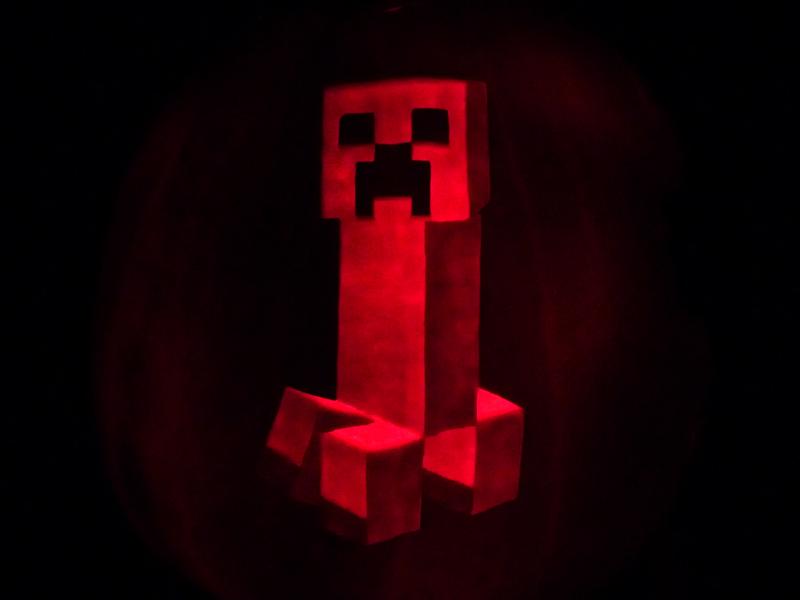 Minecraft Creeper Pumpkin Template Download