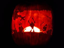 DeathSpank Pumpkin by ceemdee