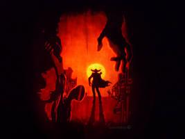 Outlaws Pumpkin by ceemdee