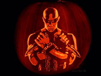 Riddick Pumpkin by ceemdee