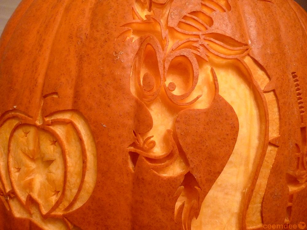 Discord Pumpkin Detail by ceemdee