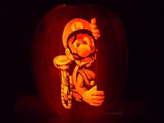 Luigi's Mansion Pumpkin by ceemdee