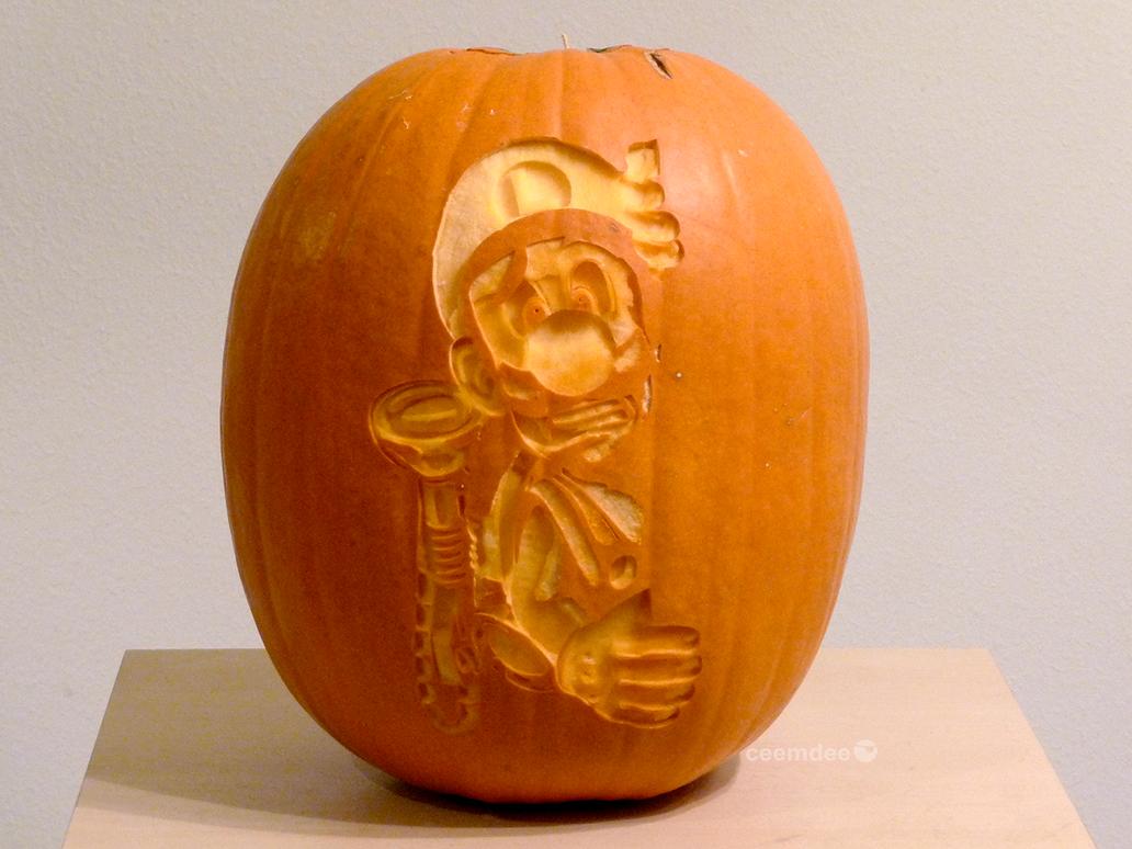 luigi s mansion pumpkin 2 by ceemdee on deviantart