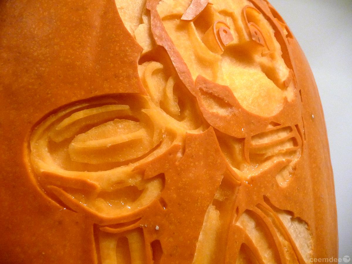 Luigi's Mansion Pumpkin Detail