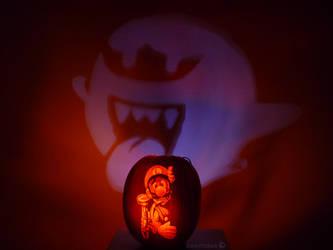 Luigi's Mansion Pumpkin Projection by ceemdee