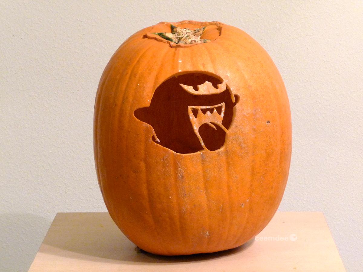 Luigi's Mansion Pumpkin Projection