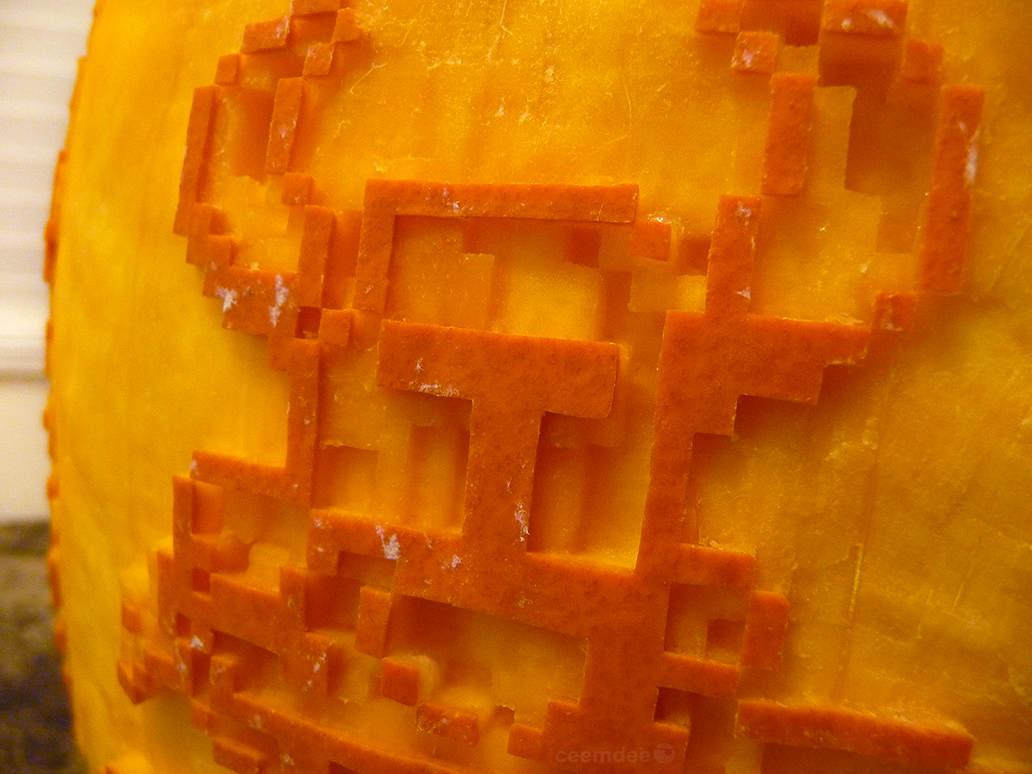 Shovel Knight Pumpkin Detail by ceemdee
