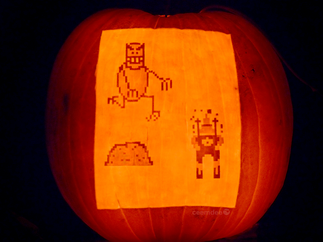 SkiFree Pumpkin by ceemdee