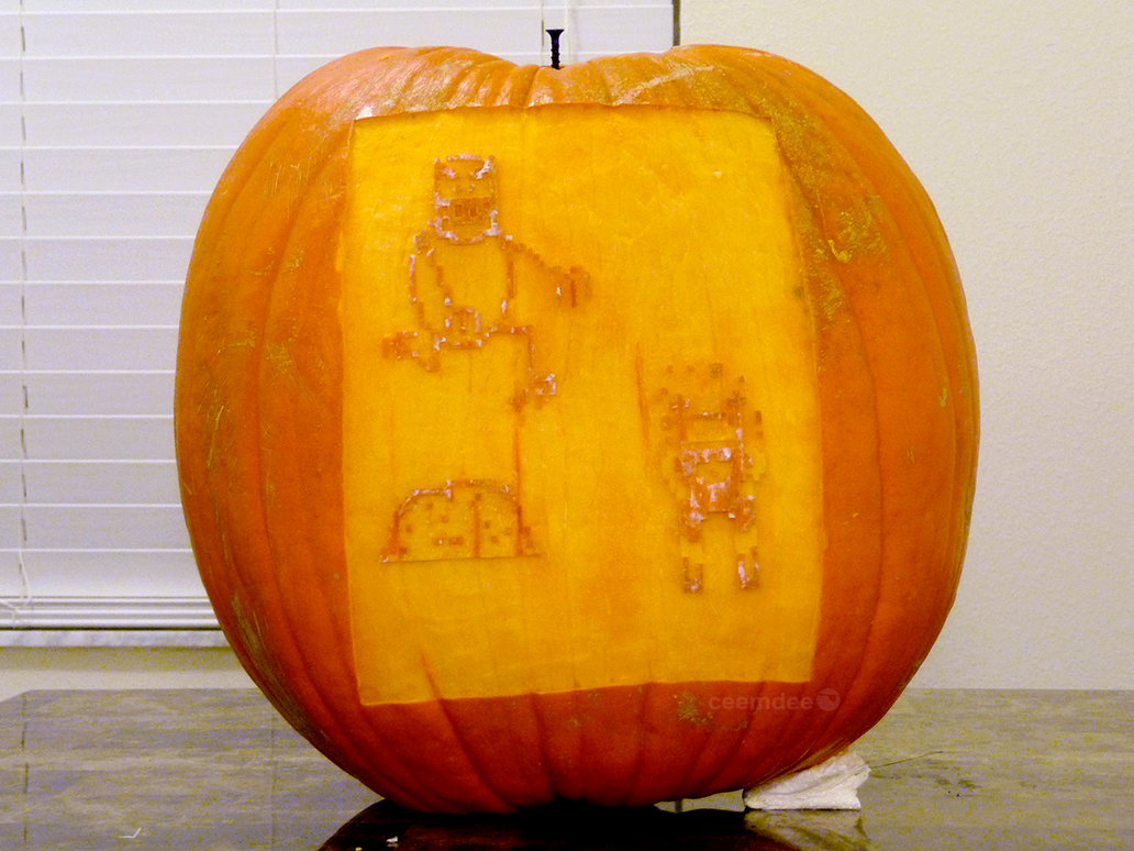 SkiFree Pumpkin 2 by ceemdee