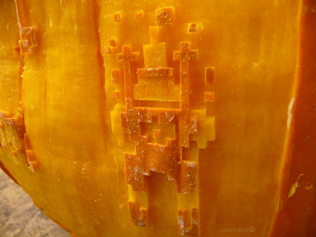 SkiFree Pumpkin Detail by ceemdee
