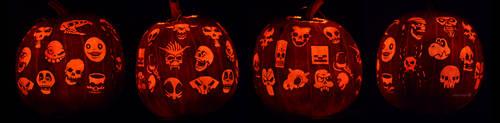 Skulls Pumpkin by ceemdee