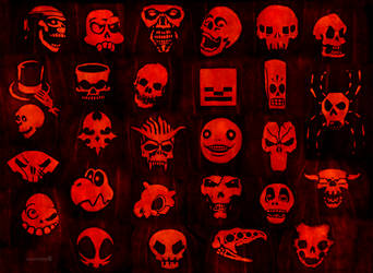 Skulls Pumpkin 2