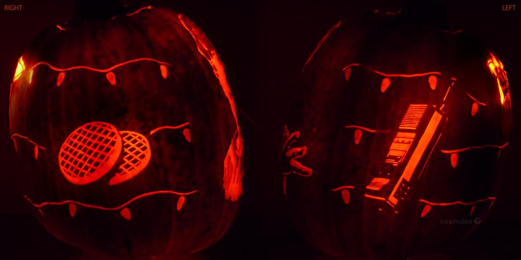stranger things pumpkin 2 by ceemdee on deviantart. Black Bedroom Furniture Sets. Home Design Ideas
