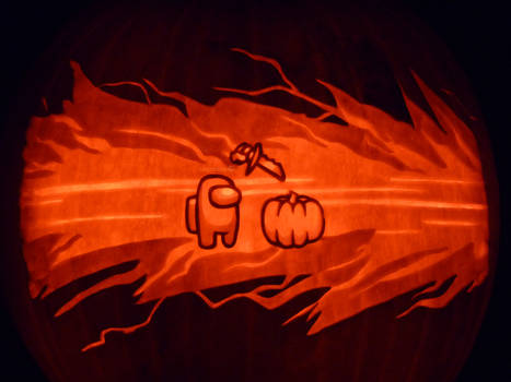 Among Us Pumpkin