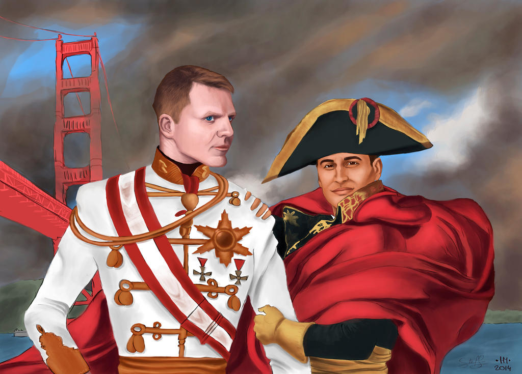 Francois-Joseph Ier d'Autriche and Napoleon by FreeDaum