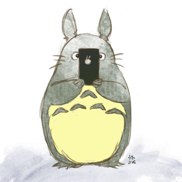 Totoro's Ipad by FreeDaum