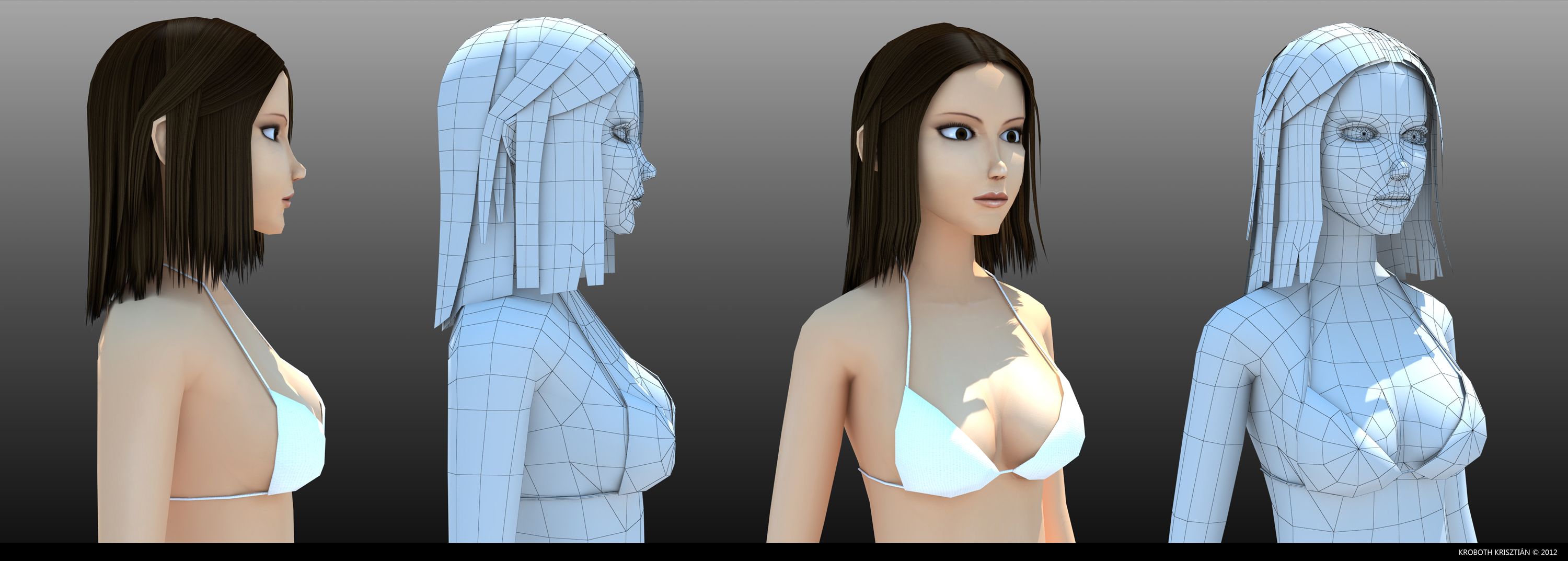 Low poly woman 2 by 4T0mCsib3
