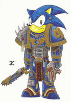 Sonic The Space Marine by Kraltaras
