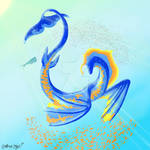 Blue and Orange Serpent