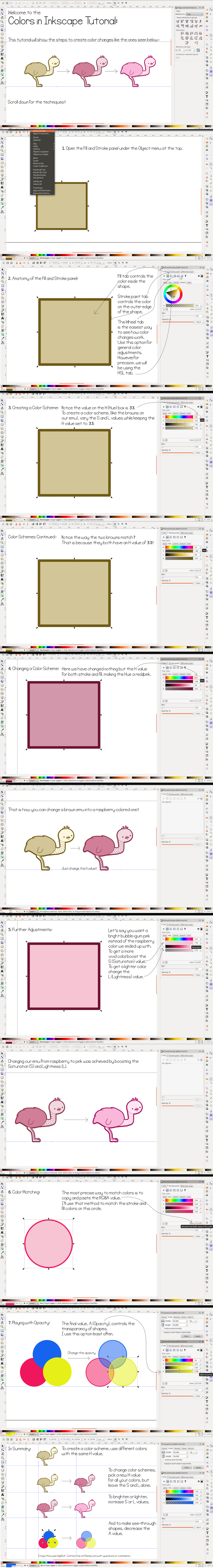 Colors in Inkscape Tutorial by Paradasia