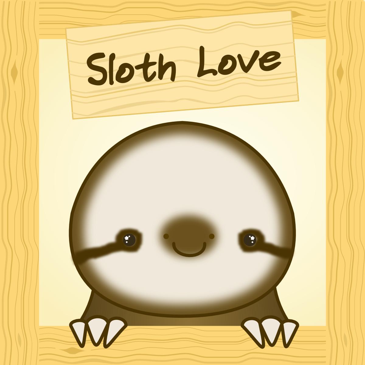 Cute Sloth Love by Paradasia on DeviantArt