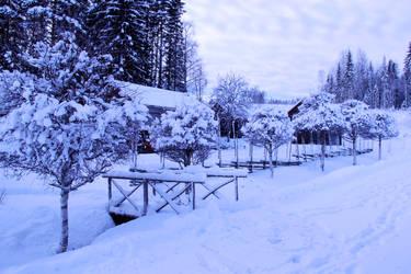 winter bridge stock by conceptually