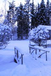 winter bridge stock 3 by conceptually