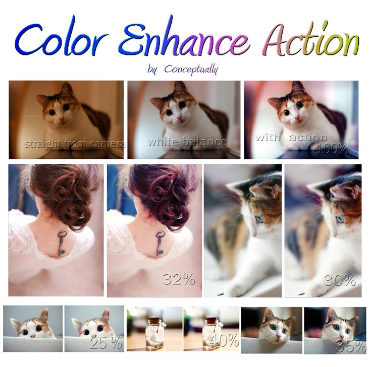 Color enhance Action by conceptually
