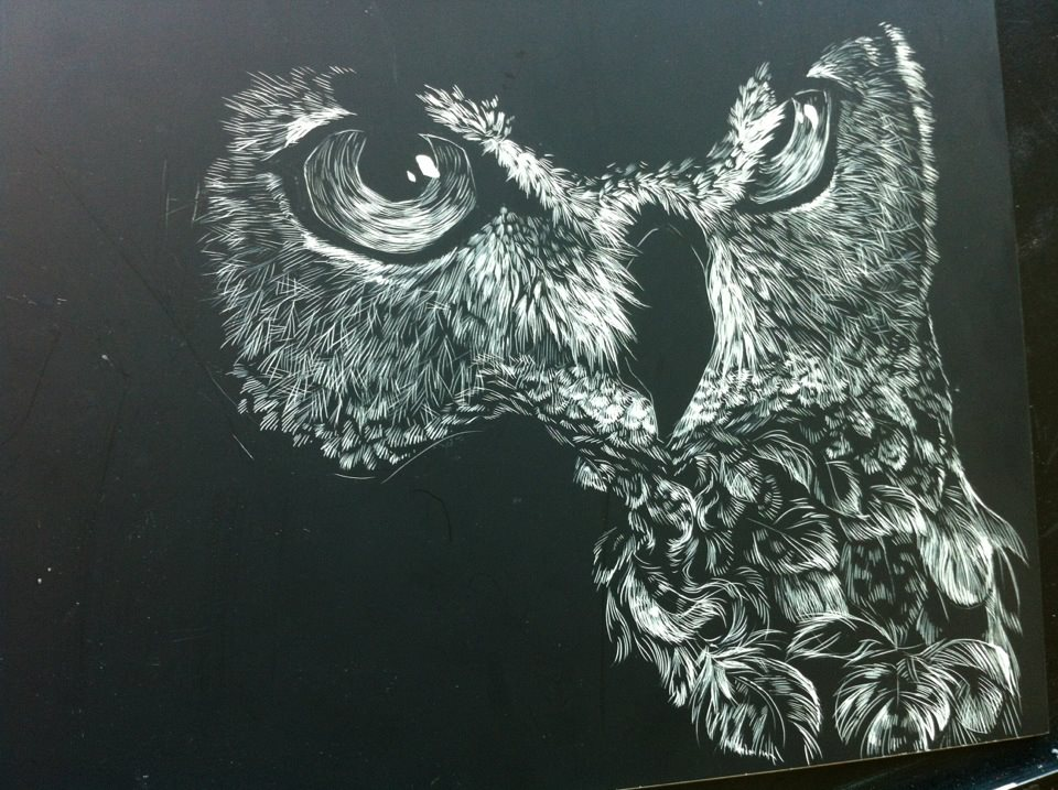 Half Finished Owl by DevinMars