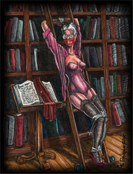 Library Ladder Color Soft Edge by Jimi-von-Broadway