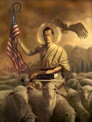 Saint-Colbert and his flock by tegehel