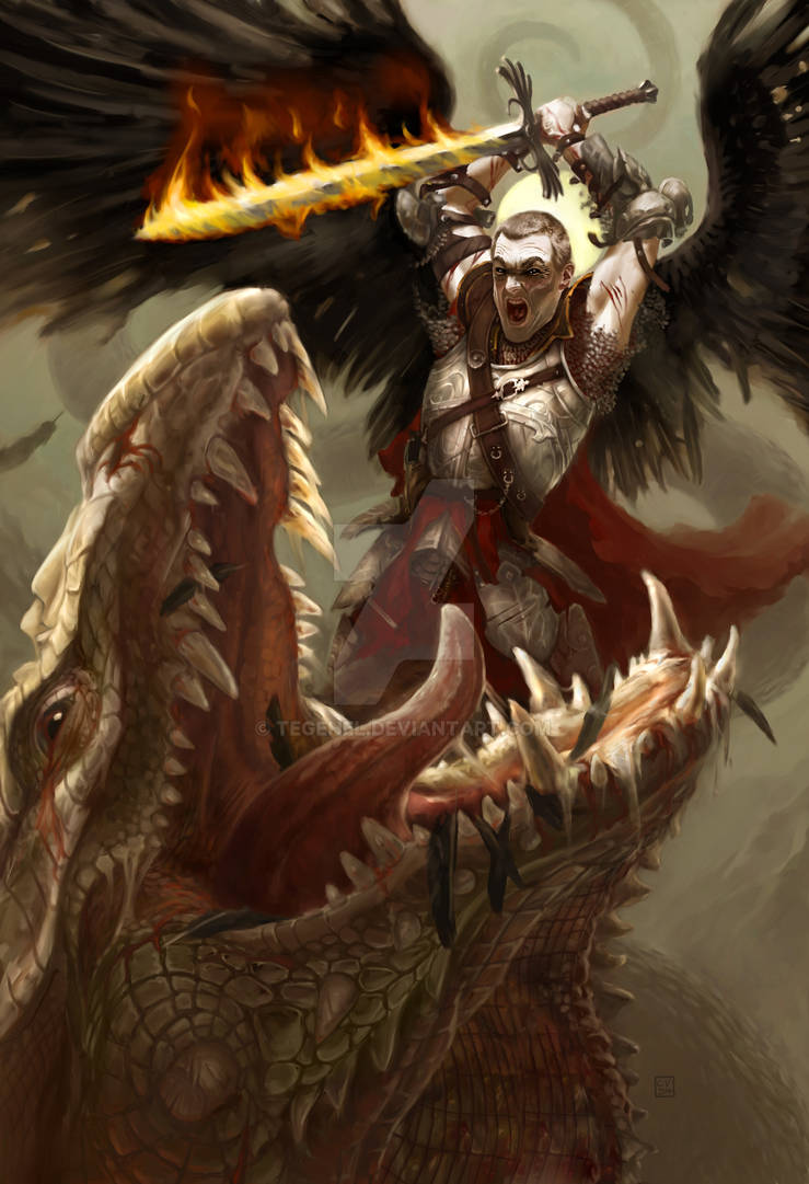 Saint-Michael slaying the Dragon