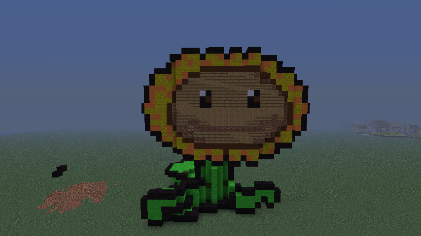 Minecraft sunflower pixel art by felix 0