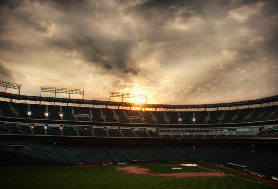 Sunset at the Ballpark by duronboy