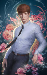 suit flower man by EdenChang