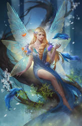 Fairy With Waterfall3 by EdenChang