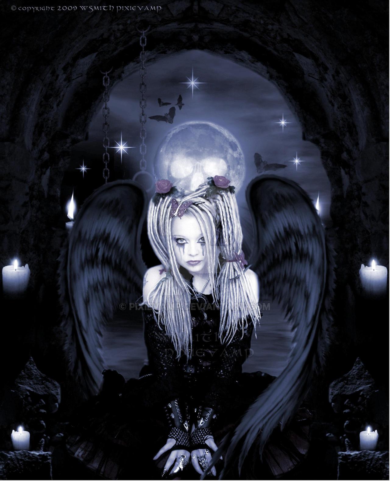 Gothic angel by pixievamp on deviantart - Dark gothic angel wallpaper ...